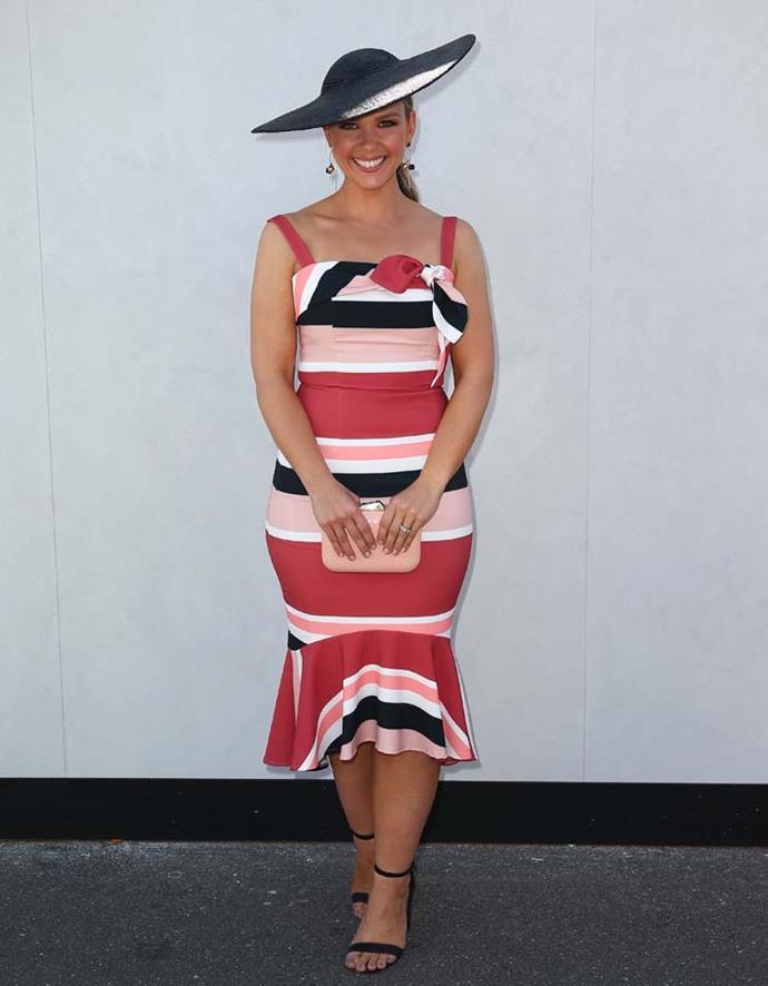 Edwina Bartholomew poses on Stakes Day.