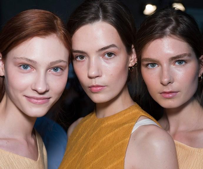clean faces natural skin