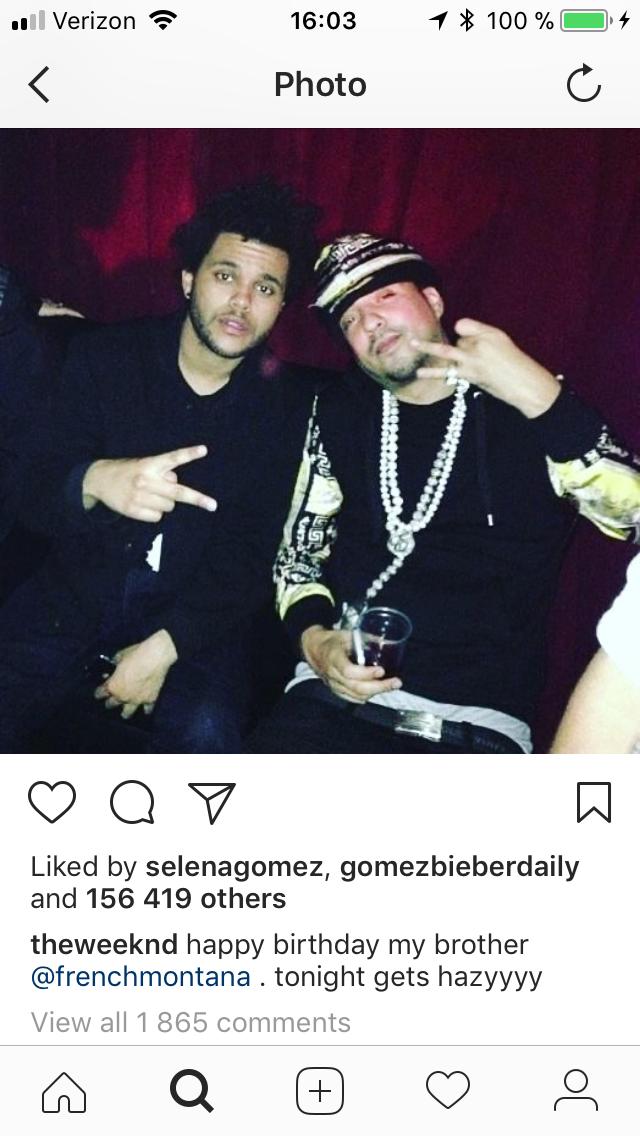 The last Selena Gomez Weeknd like, for now.