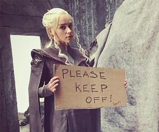 Emilia Clarke Game of Thrones Instagram