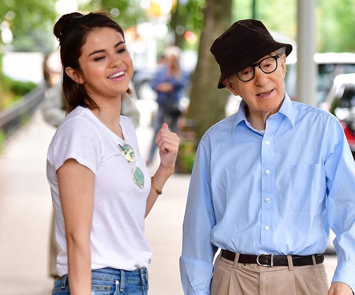 Selena Gomez and Woody Allen