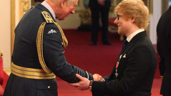 Ed Sheeran Just Broke Royal Protocol While Meeting Prince Charles
