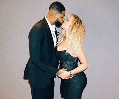 Khloé Kardashian Shares Her First Family Portrait With Tristan Thompson