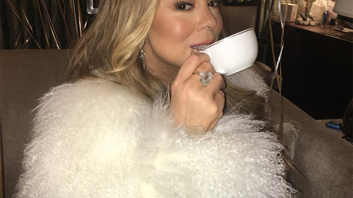 Mariah Carey's New Year's Eve Hot Tea Moment Just Became 2018's First Meme