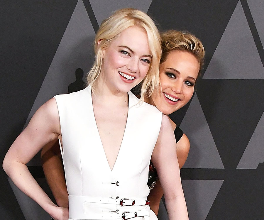 Um, Jennifer Lawrence & Emma Stone Bonded Over Having the Same Stalker