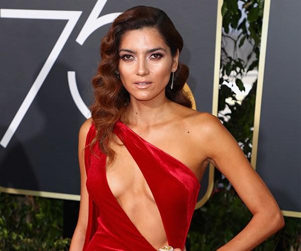 Red Dress Golden Globes