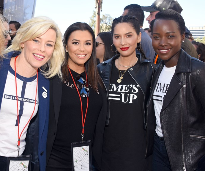 All The Celebrities Who Attended The 2018 Women's March