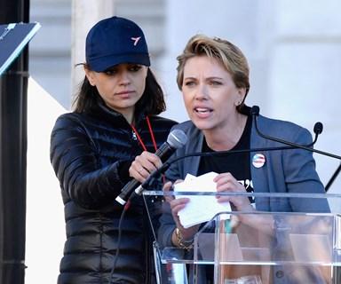 Scarlett Johansson Threw Shade At James Franco In Her Women's March Speech