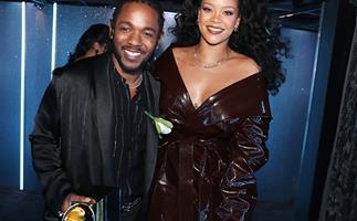 Kendrick Lamar and Rihanna at 2018 Grammys