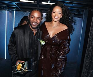 Kendrick Lamar and Rihanna at 2018 Grammys
