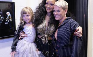 Rihanna, World's Best Babysitter, Had A Moment With Pink's Daughter At The Grammys