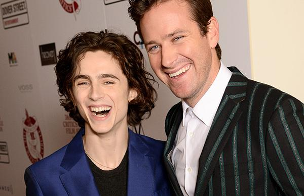 Timothee Chalamet Armie Hammer London