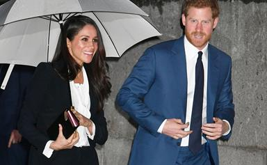 Meghan Markle Wore A Pantsuit For Her First Official Red Carpet Appearance With Prince Harry