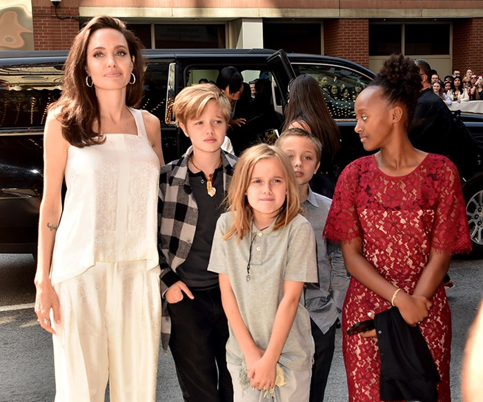 Angelina Jolie Takes Shiloh And Zahara Out For Another Night On The Red Carpet