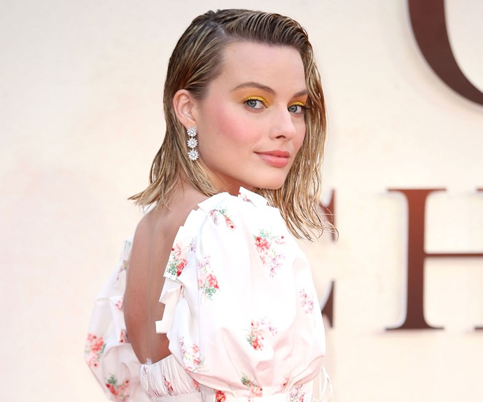 margot robbie goodbye christopher robin red carpet
