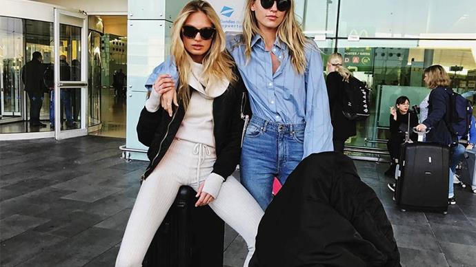 Romee Strijd travelling.