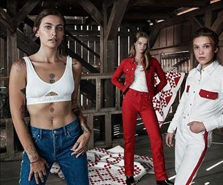 Millie Bobby Brown And Paris Jackson Mimic The Kardashians In Their Calvin Klein Campaign