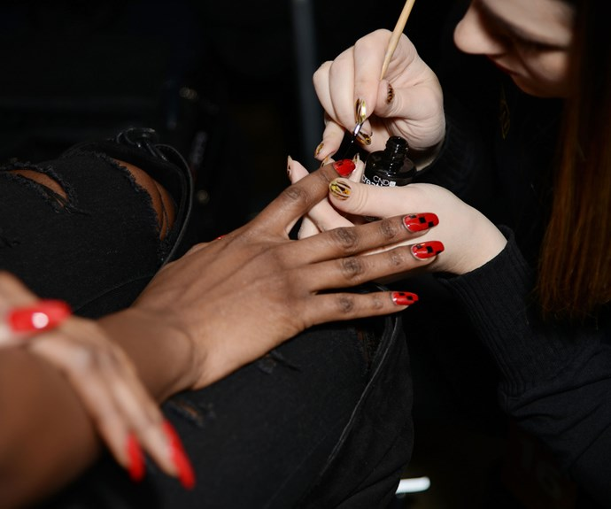 fall fashion week nail trends 2018