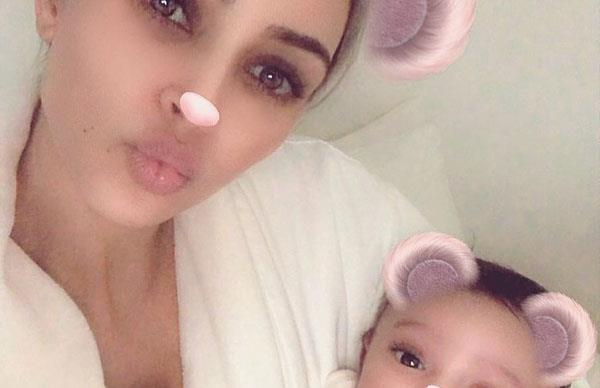 Kim Kardashian Just Shared The First Picture Of Baby Chicago, And Of Course It's A Selfie
