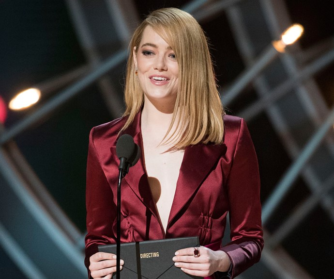 Emma Stone at 2018 Oscars