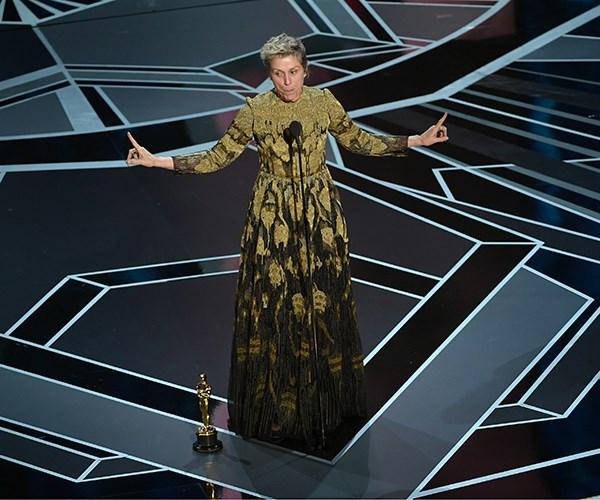 Frances McDormand at 2018 Oscars