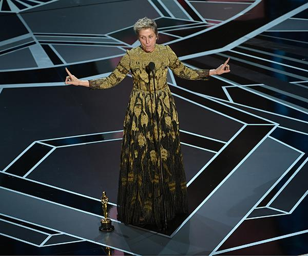Frances McDormand at 2018 Oscars