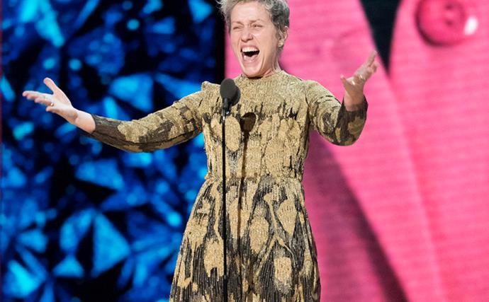 Frances McDormand at the 2018 Oscars.