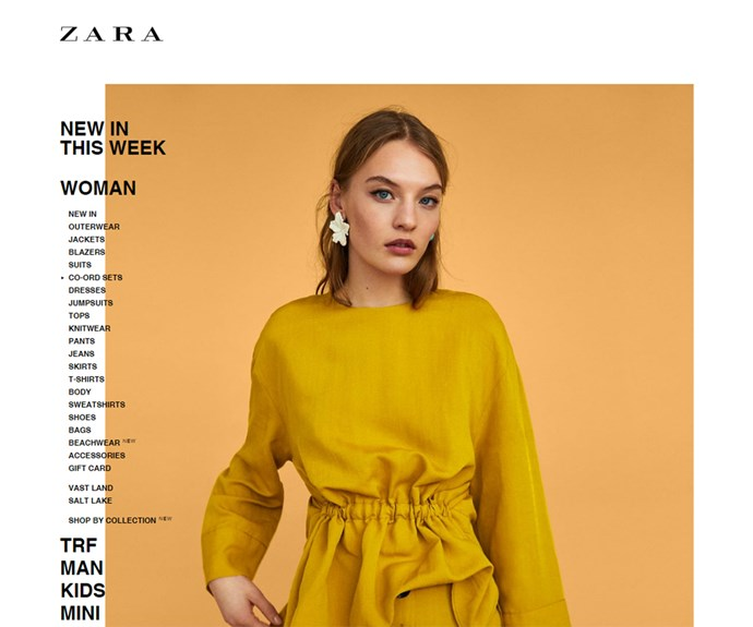 Zara Australia online shopping website