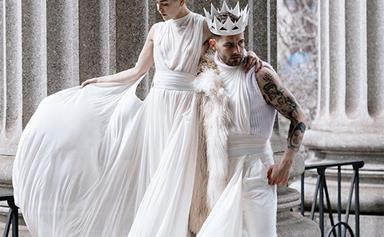 Nico Tortorella From 'Younger' Married His Partner And They Wore Matching 'Genderbending' Outfits