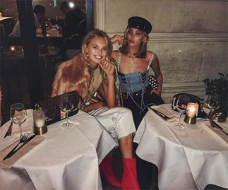 Romee Strijd and Elsa Hosk Drinking