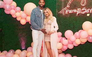 Pregnant Khloe Kardashian and Tristan Thompson