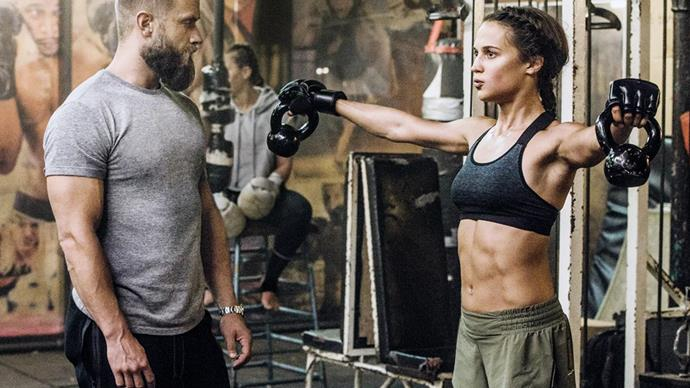 Alicia Vikander Working Out For Tomb Raider
