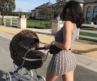 Kylie Jenner Fendi stroller.
