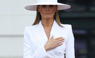 The Internet Has Some Thoughts On The Inspiration Behind Melania Trump's Latest Outfit
