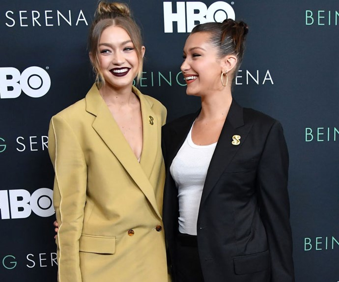Gigi and Bella Hadid Had A Twinning Pantsuit Moment On The Red Carpet