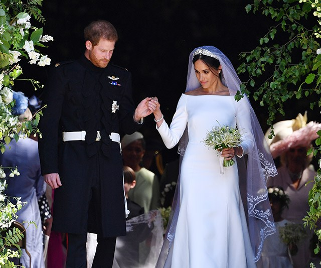 The Tiny Detail In Meghan Markle's Veil You Probably Missed