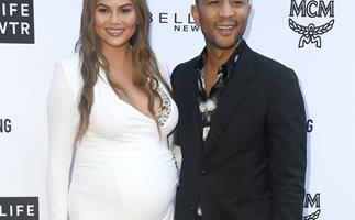 Chrissy Teigen Just Shared The First Adorable Photo Of Daughter Luna and Son Miles Together