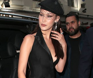 Bella Hadid Ball Gown Outfit Change Jeans