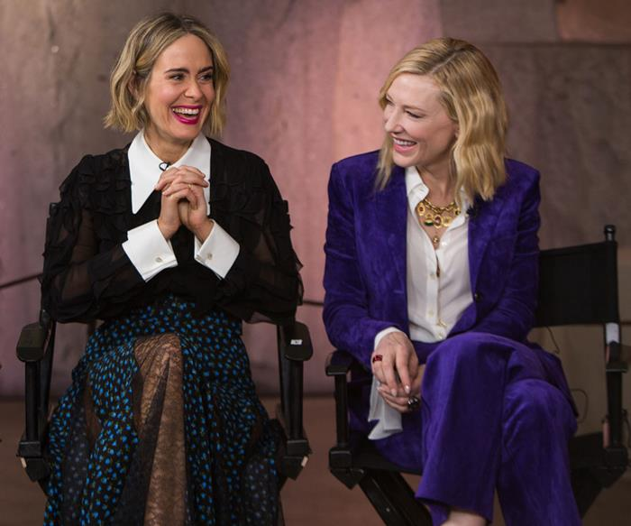 Cate Blanchett and Sarah Paulson Completely Derailed A Press Interview In The Most Hilarious Way