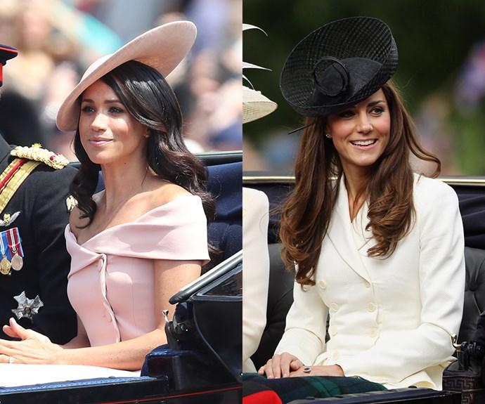 Kate Middleton and Meghan Markle comparison.
