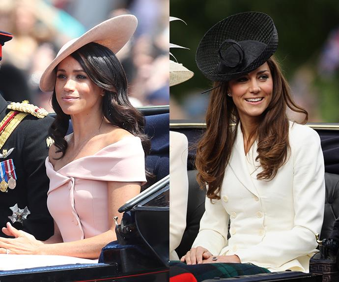 Kate Middleton and Meghan Markle comparison.