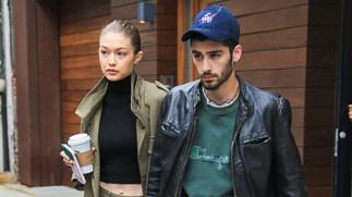 Gigi Hadid and Zayn Malik on Instagram.