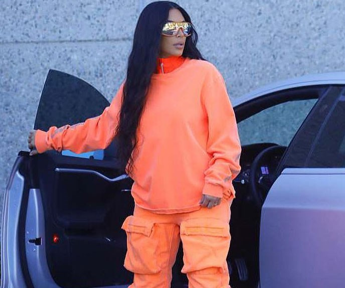 Did Kim Kardashian Just Debut The New Yeezy Collection In Another Paparazzi Campaign Shoot?