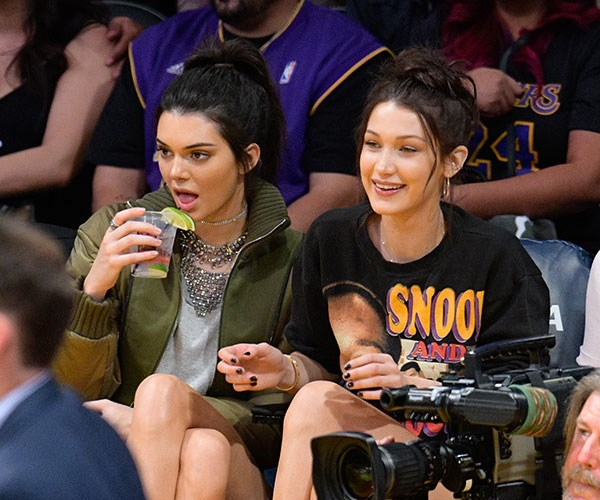 Kendall Jenner And Bella Hadid Eat Pasta And Flip The Bird