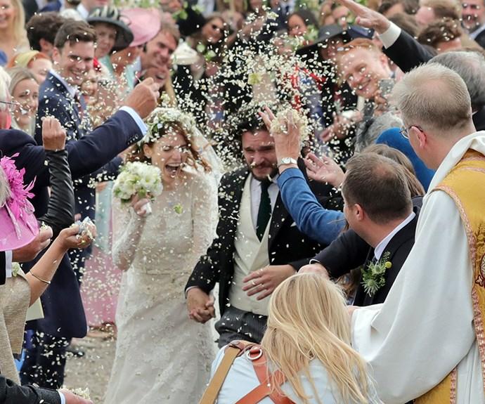 Rose Leslie and Kit Harington wedding.