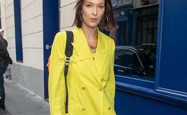 The Hadid Sisters' Guide To Wearing Head-To-Toe Yellow