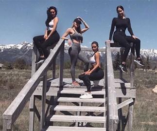 Kim Kardashian exercise
