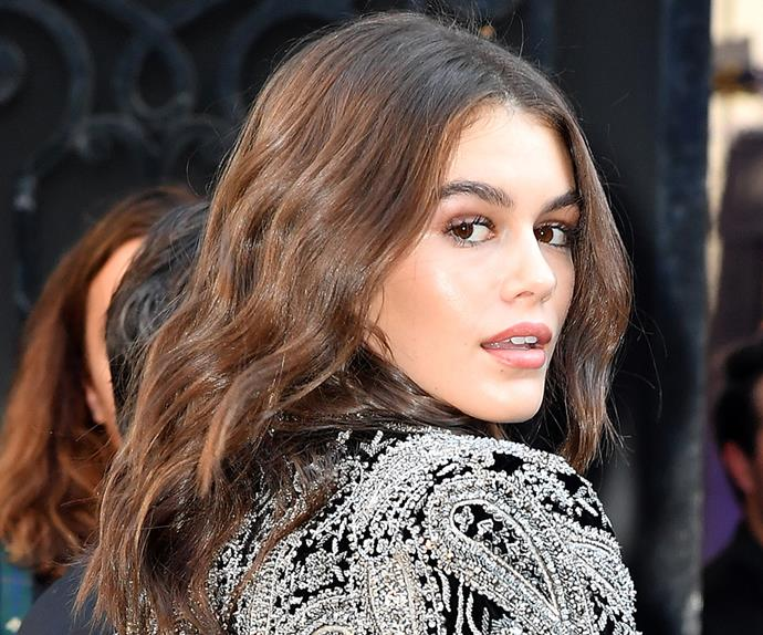 kaia gerber hair