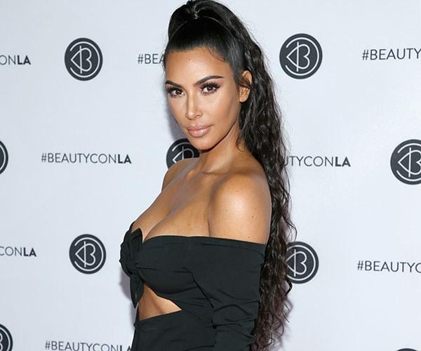 Kim Kardashian Bike Shorts Red Carpet Los Angeles
