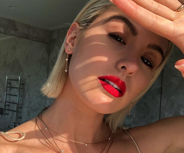 How Jesinta Franklin Stays Close To Home (And To Buddy) When She's Away